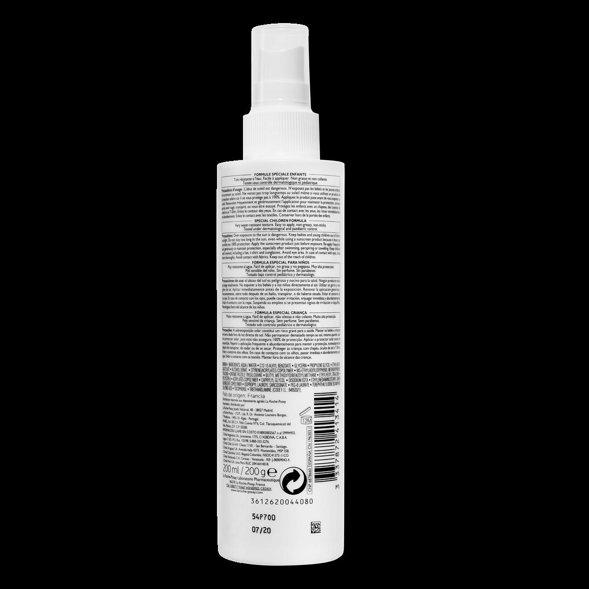 La Roche Posay Produktsida Sol Anthelios Dermo Pediatrics Spray Spf50