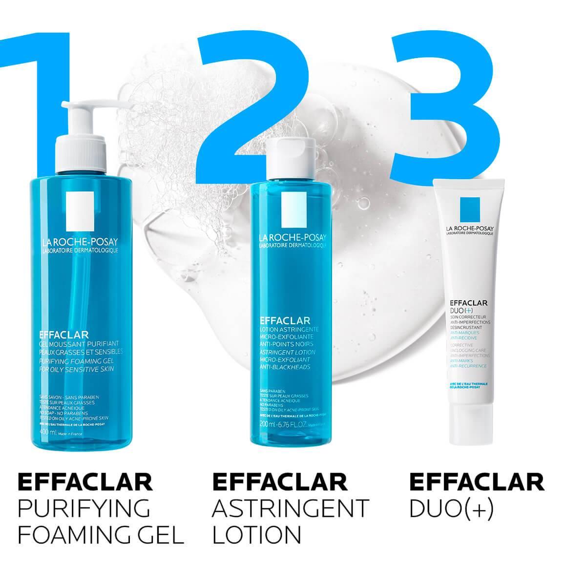La Roche Posay Produktsida Tendens till akne Effaclar Cleansing Foaming Gel 400ml rutin