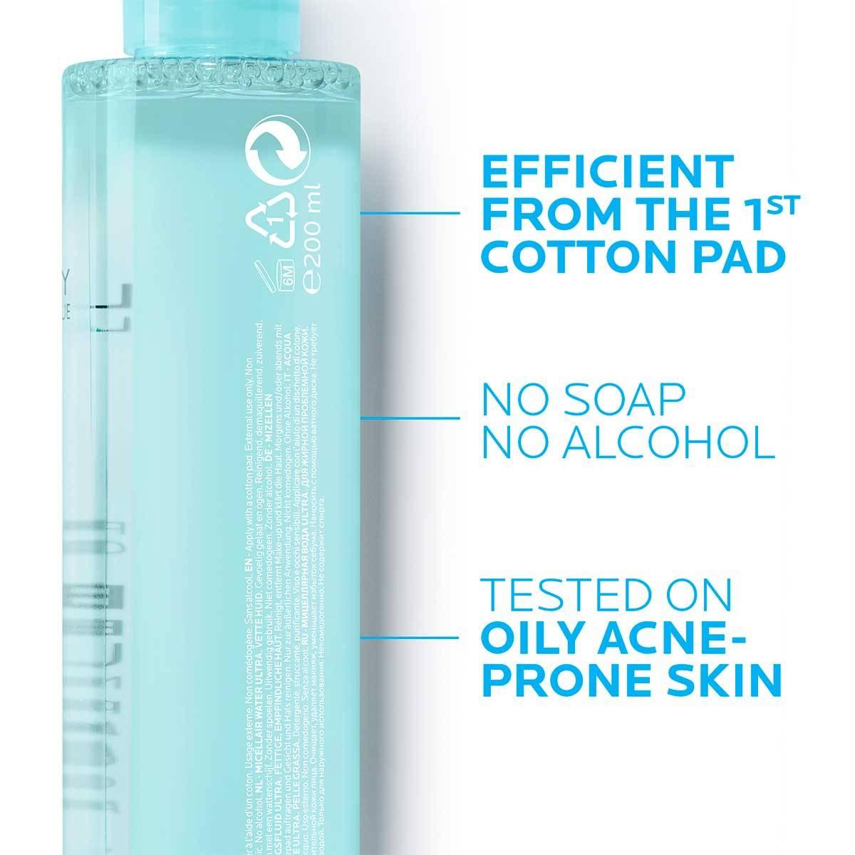 La Roche Posay Produktsida Tendens till akne Effaclar Micellar Water Ultra 200ml 34
