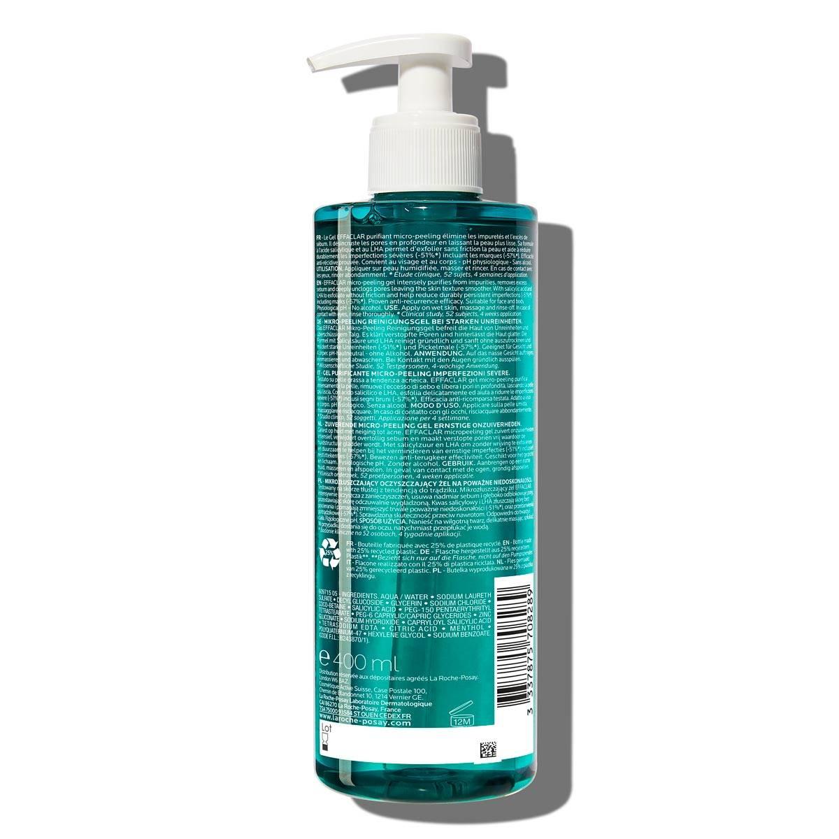 Effaclar Micro Peeling Purifying Gel 400ml 2 % Salicylsyra Fet hud BSS