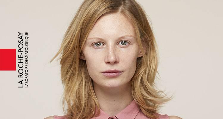 x La Roche Posay Känslig Toleriane Make up Jessica Före