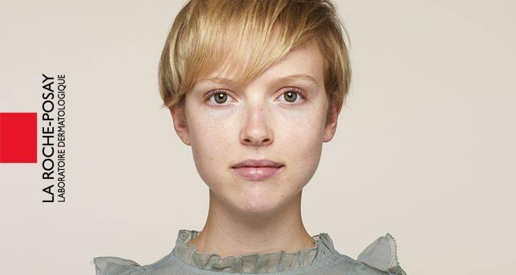 La Roche Posay Känslig Toleriane Make up Ivory Audrey Före