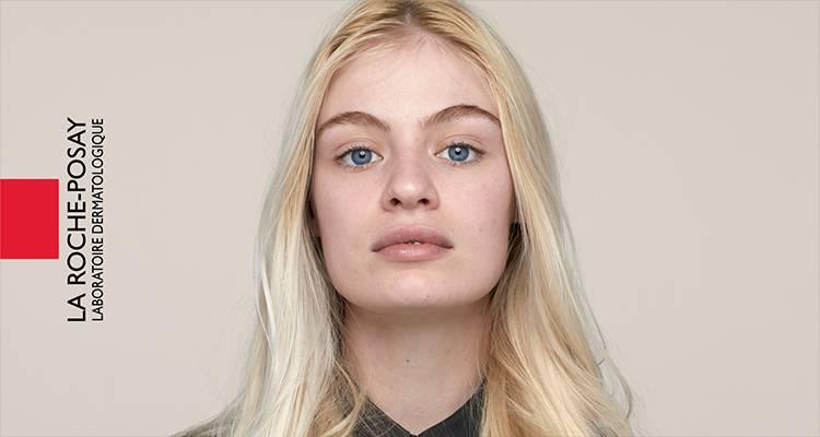La Roche Posay Känslig Toleriane Make up Light Beige Chloe Före